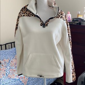 New pink leopard sweater!
